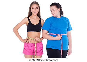 overgewicht vrouw, goed, figuur