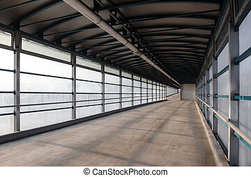 Overground pedestrian bridge - View from the inside to...