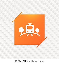 Overground sign icon. Metro train symbol. - Overground...