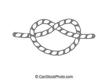 Overhand rope knot isolated vector icon