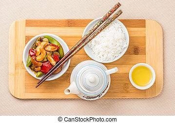 Overhead Cashew Chicken - Chinese cashew chicken...
