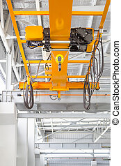 Overhead Crane Factory - Overhead crane and hook inside...