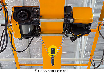 Overhead Crane Factory - Overhead crane and hook inside ...