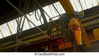 Overhead crane in foundry workshop 4k - Overhead crane in ...