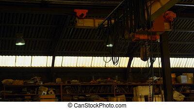 Overhead crane machine in workshop 4k - Overhead crane ...