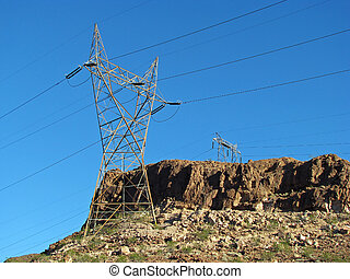 Overhead Electrical Transmission Power Supply Line Towers