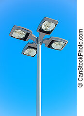 Overhead Light - An Overhead Parking Lot Light with Four...