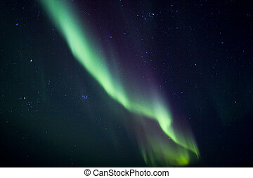 Overhead northern lights