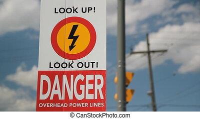 Overhead power lines!