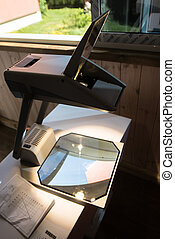 Overhead Projector for presentation at home on balcony