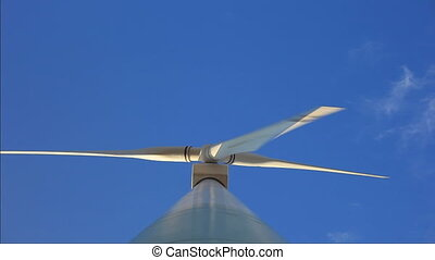 Overhead shot of a working windmill