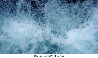 Overhead Shot Of Gushing Waterfall - Overhead closeup shot...