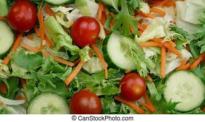 Overhead Shot Of Mixed Fresh Salad