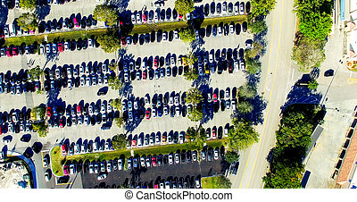 Overhead view of Car Parking outdoor