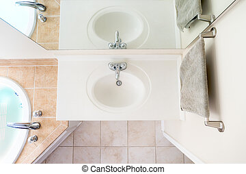 Overhead View of Classical Acrylic Top Sink