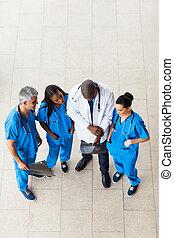 overhead view of doctors