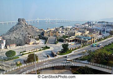 Macau Fisherman's Wharf - Overhead view of Macau Fisherman's...