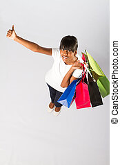 indian woman with shopping bags