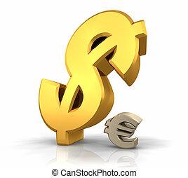 overheersing, dollar