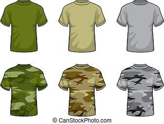 overhemden, camouflage