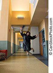 Overjoyed Graduate