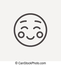 Overjoyed thin line icon - Overjoyed icon thin line for web...