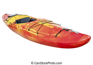 overkrydsning, whitewater, kayak, isoleret