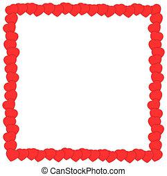 overlap hearts frame