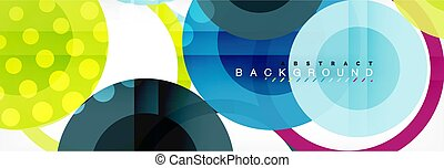 Overlapping circles design background. Trendy abstract...