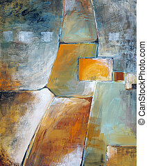 Overlapping Planes - an abstract painting