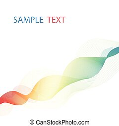 Overlaying colorful wavy lines forming an abstract pattern