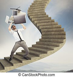 Overload businessman