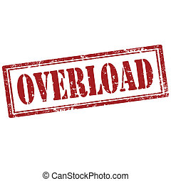 Overload-stamp - Grunge rubber stamp with text...