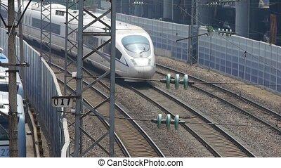 overlook high-speed rail slowly pul