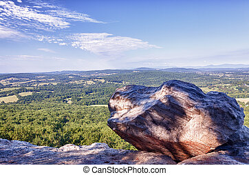 Overlook of Virginia from Bull Mountain - Top of Bull...
