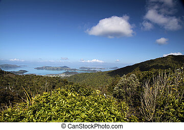 Overlooking Coromandel Town, New Zealand