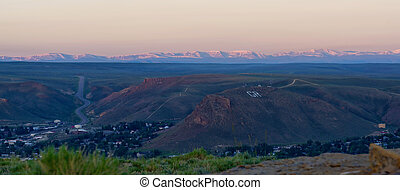 Overlooking Green River, Wyoming, with the Uinta Mountains in the background