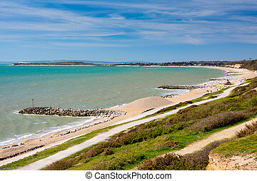 Overlooking Highcliffe Beach Dorset England UK Europe