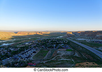 Overlooking Interstate 80 from above the Green River Tunnel