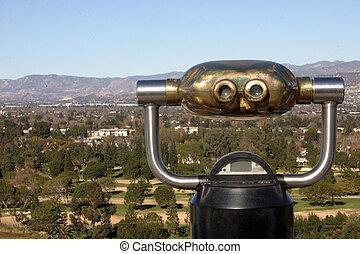 Overlooking - Los Angeles, CA. Overlooking the hills