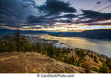 Overlooking the City of Kelowna at Sunset
