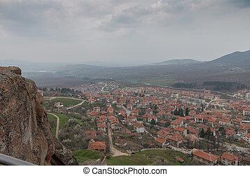 Overlooking the town of Belogradchik, Bulgaria