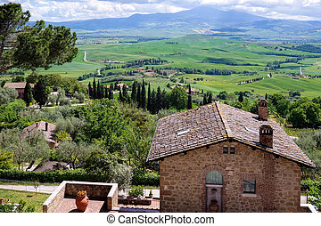 Overlooking Val d'Orcia Tuscany