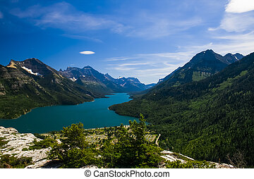 Overlooking Waterton National Park