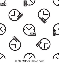 Overnight daily workhours pattern - Image of clock and text...