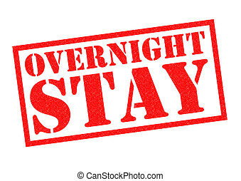 OVERNIGHT STAY red Rubber Stamp over a white background.