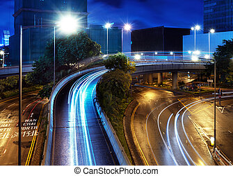 Overpass of the light trails
