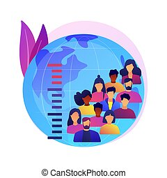 Overpopulation abstract concept vector illustration.