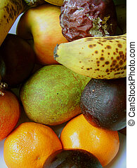 overripe selection of fruit