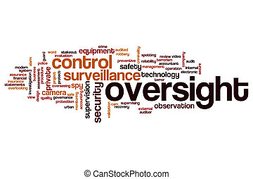 Oversight word cloud concept